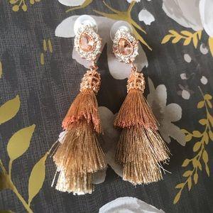 Jewelry - Rose gold tassel earrings